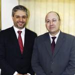 O secretário Municipal de Saúde e João Jaime