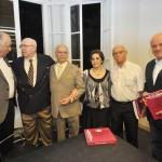 Waldemiro Gremski, reitor da PUCPR; Aroldo; Fernando Fontana e Tereza Cristina Ribas Fontana; Manoel de Andrade; Omar Sabbag Filho