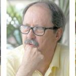 O escritor Wilson Bueno; Luiz Manfredini; e Jamil Snege