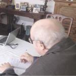 Marcela dando entrevista; Dr.Balint; Jubal Sérgio Dohms.
