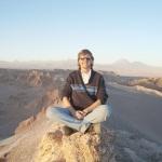 Ike em reflexão sobre a realização deste sonho, no deserto do Atacama