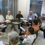 Maria Sandra Gonçalves, Rogério Rehme, Mário Maia, AMGH, José Lúcio Glomb e Hélio Puglielli.