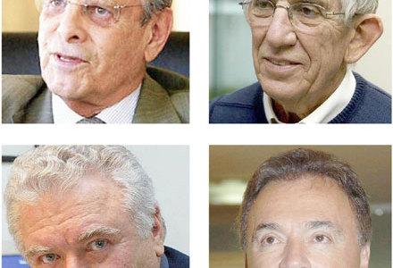 Paulo Pimentel; Euclides Scalco; Jaime Lerner e  Álvaro Dias
