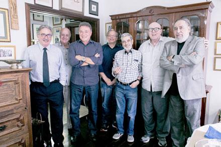 José Lúcio Glomb, Edson Gradia, Álvaro Dias, Marcus Vinicius Gomes, Celso Nascimento, Aroldo e Fábio Campana.