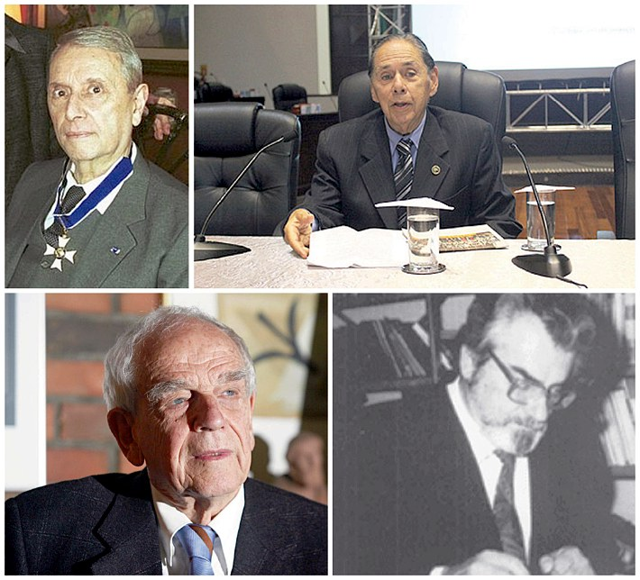 Wilson Martins, Pretextato Taborda Ribas Neto, Eduardo Rocha Virmond e Ruy Wachowicz
