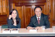 Os autores, no lançamento do livro, no Palacete dos Leão.