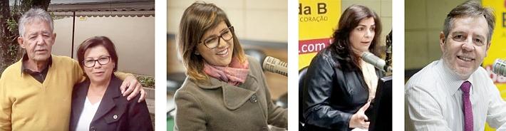 Luiz Carlos Martins e Maria Martins; Mariana Martins; Denize Mello e Michel Micheleto