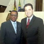 O cônsul do Senegal para o Paraná e Santa Catarina, Ozeil Moura dos Santos, com o deputado Cobra Reporter, colaborador nas comemorações dos 322 anos da morte de Zumbi do Palmares e Dia da Consciência Negra.