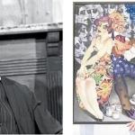 """Ary Fontoura como o """"Dr.Pomposo"""" e Juarez Machado."""