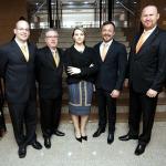 Rodrigo Lullis, Amaury Rios, Adriana Siliprandi Hishida, Adriano Gomes e Edelmar Gonçalves, do Mundo Bitcoin (Foto: Valterci Santos)