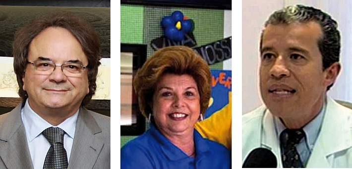 José Candido Muricy, Elizabeth Castor e Edmilson Fabbri.