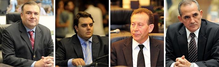 Deputados Ney Leprevost, Felipe Francischini, Professor Lemos, Nereu Moura: mesmas intenções