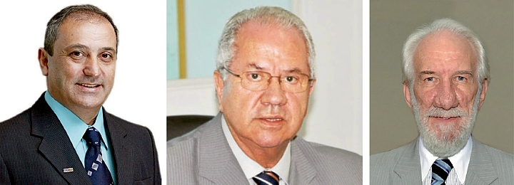 Antonio Spolador, Borges da Silveira e Darci Piana: entre os convidados