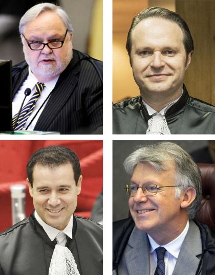 Ministros paranaenses do STJ: Felix Fischer, Joel Ilan Paciornik, Nefi Cordeiro e Sérgio Luiz Kukina