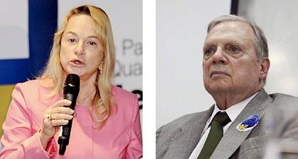 Deputada Magda Mofatto (PR-GO): única milionária; Tasso Jereissati: campeão da riqueza (Foto: Valter Campanato/Agência Brasil)